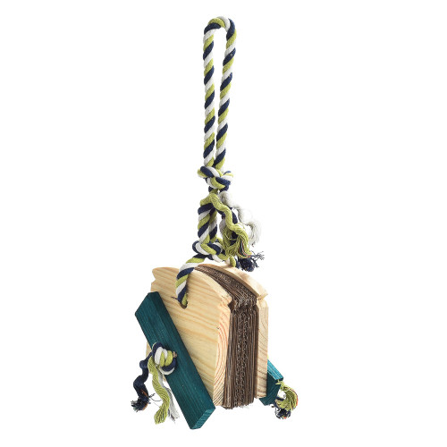 Almond Bread Chewable Foraging Natural Parrot Toy - Large