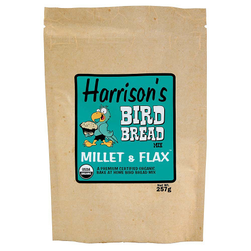 Harrison's Bird Bread Mix - Millet & Flax Organic Parrot Treat