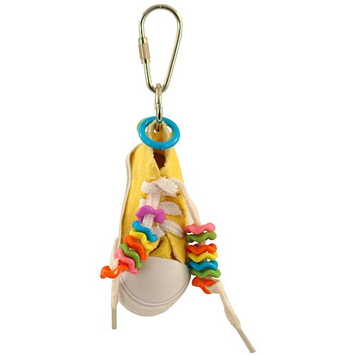 Beaker Sneaker Foot Parakeet & Parrot Toy