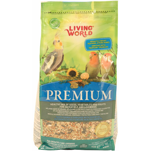 Hagen Living World Lovebird & Cockatiel Premium Seed Food