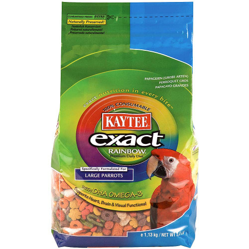 Kaytee Exact Rainbow Chunky Complete Food for Large Parrots