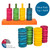 Teaching Colours - Wooden Parrot Training Toy Value Pack