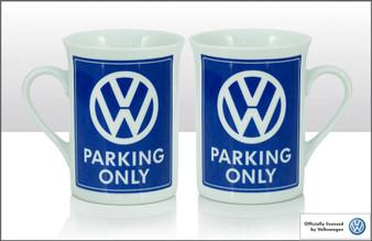 VW Bone China Mug - Parking Only (70188)