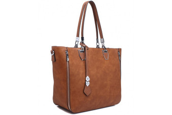 Bessie London Shopper Bag (BB2888) in Brown