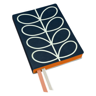 Orla Kiely Classic A5 Notebook - Navy Linear Stem (OK091)