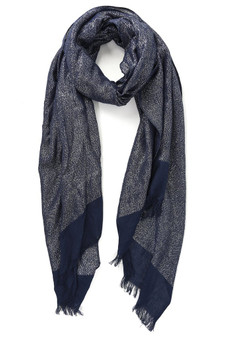 Silver Shimmer Scarf - Navy Blue (2900NB)