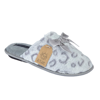 Grey Animal Snuggle Mule Slipper (Pandora-Grey)
