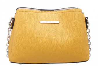 Classic Small Cross Body PU Bag - Yellow
