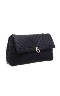 Quilted Cross Body Bag - Black