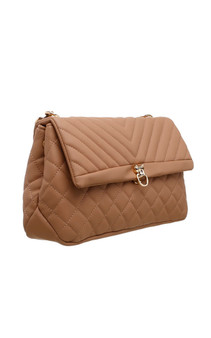 Quilted Cross Body Bag - Apricot