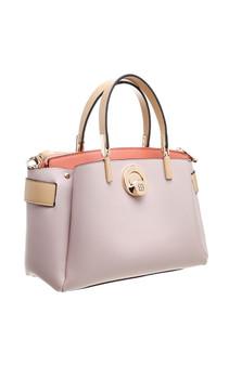 Premium PU Twist Lock Tote Bag - Pink