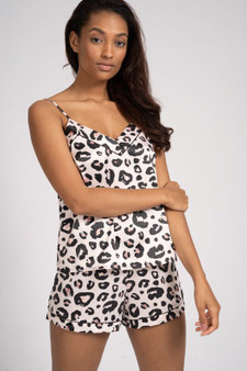 Leopard Satin Cami & Shorts PJ Set