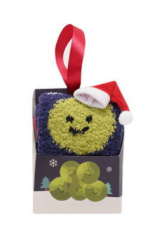 Novelty Christmas Sprout Gift Boxed Cosy Socks