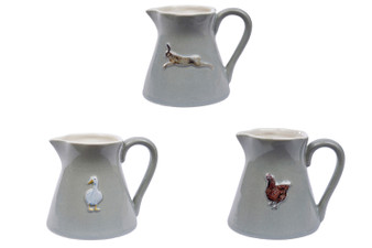 Rustic Stoneware Small Milk Jug