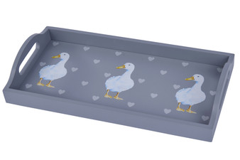 Absolutely Quakers, Duck & Heart Wooden Drinks Tray