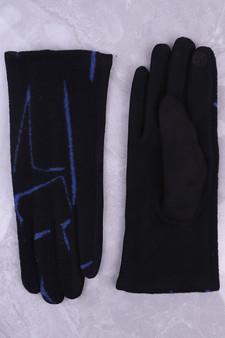 Black & Blue Graffiti Print Glove