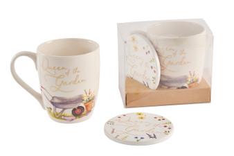 Queen of the Garden Mug & Coaster Gift Set