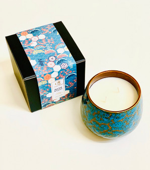 Sea Salt & Cassis Luxury 2 Wick Rustic Ceramic Candle