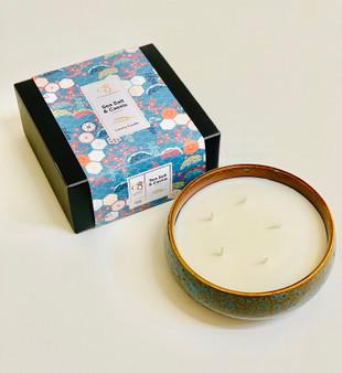 Sea Salt & cassis Luxury 5 Wick Rustic Ceramic Candle