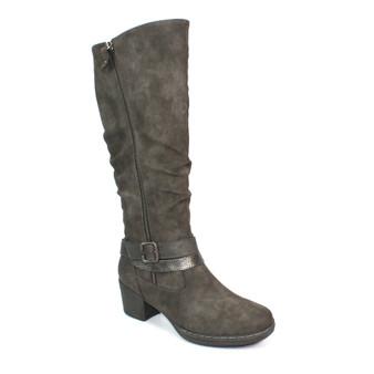 Ladies Dark Grey long Boots - Judy