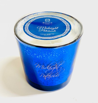 Midnight Patchouli Large Metallic 3 Wick Luxury Blue Candle