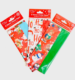 Novelty Christmas Tissue Paper 8pk