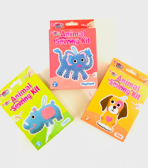 Animal Sewing Kits, Dog, Elephant, Hippo - Perfect Gift or Stocking Filler