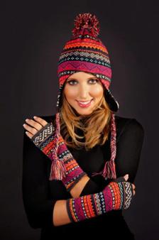 Pom Pom Knitted Tassle Hat