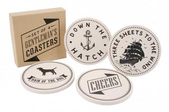 Set of 4 Gentleman's Coasters (ART188 )