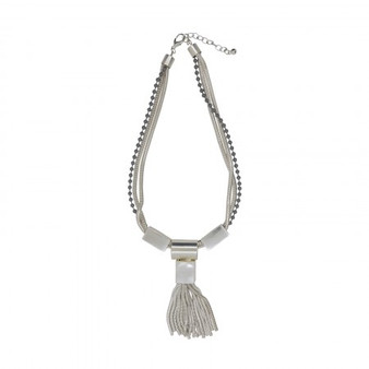 D&X London Multi Strand Necklace with Tassel Pendant (DN1208A)