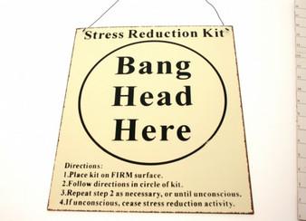 ''Stress Reduction'' Metal Plaque (6PL122)