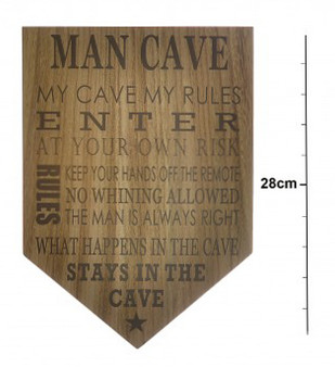 ''Man Cave'' Wooden Plaque (8MN165)