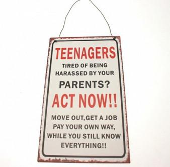 ''Teenagers'' Metal Plaque (6PL170)