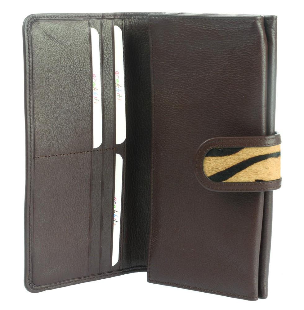 032823ed8ff3 ... Leather Animal Print Wallet Purse (75042) ...