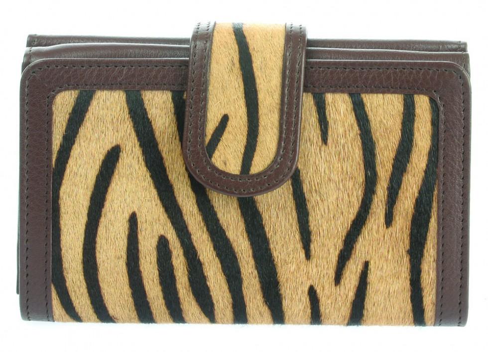 0c40560b4eb6 ... Small Leather Animal Print Wallet Purse (75043) ...