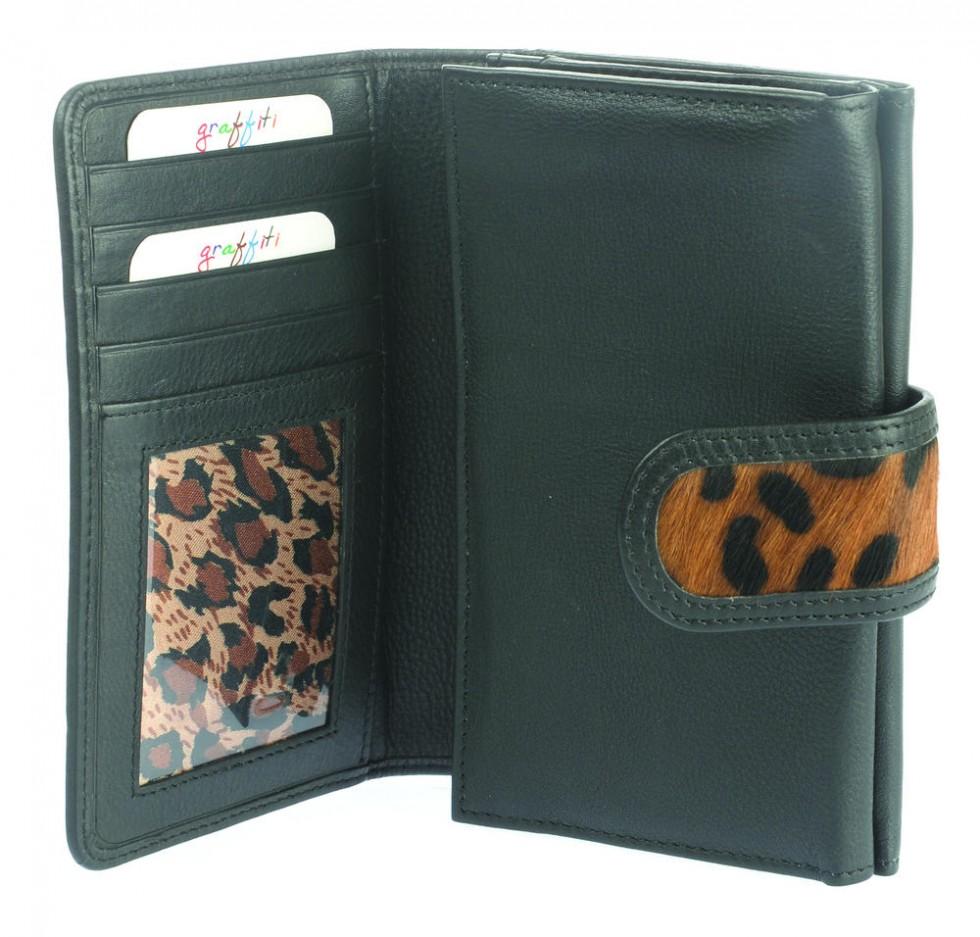 1e9f5c6f6a26 ... Small Leather Animal Print Wallet Purse (75043)