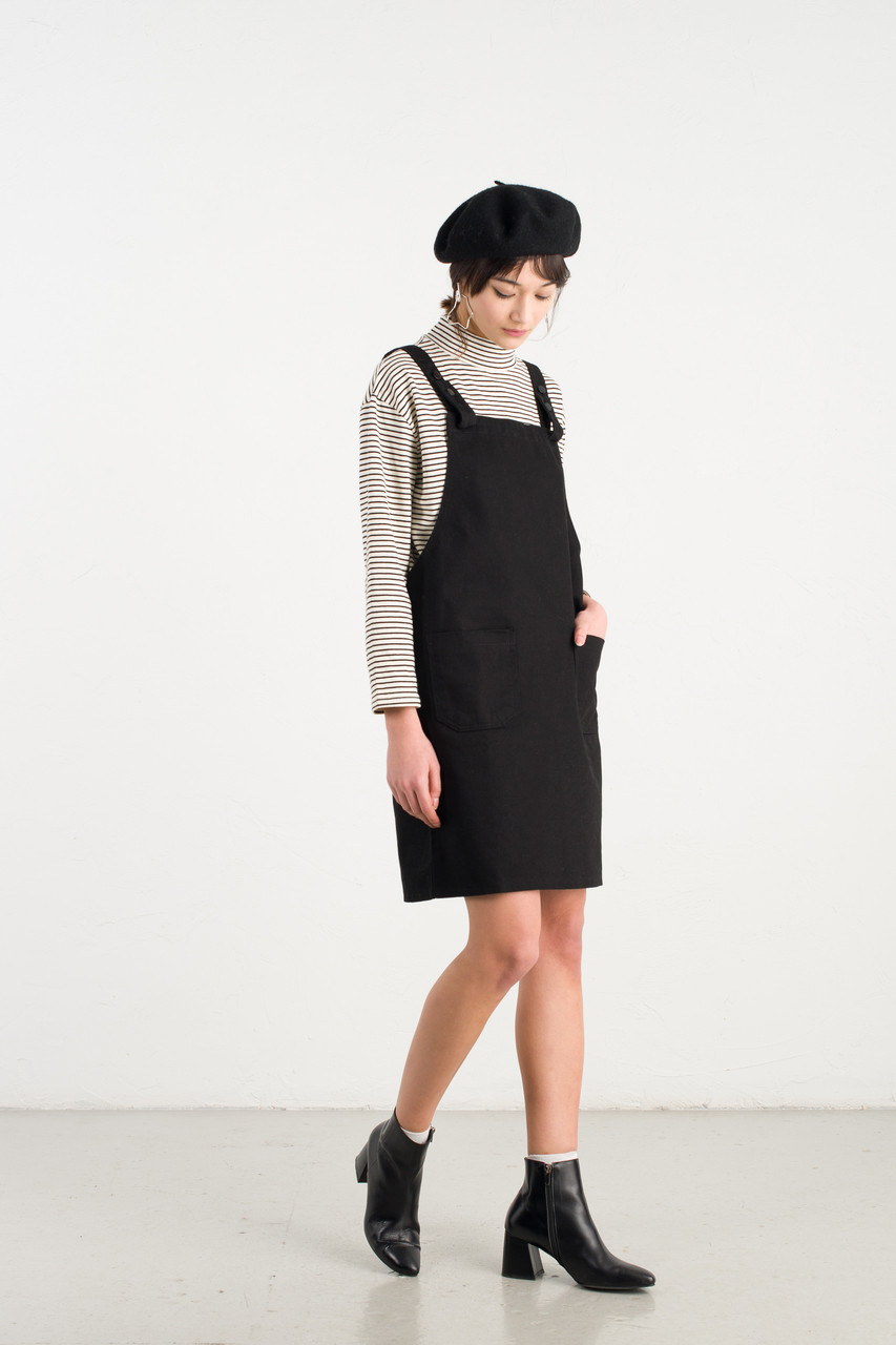 Apron Dress, Black