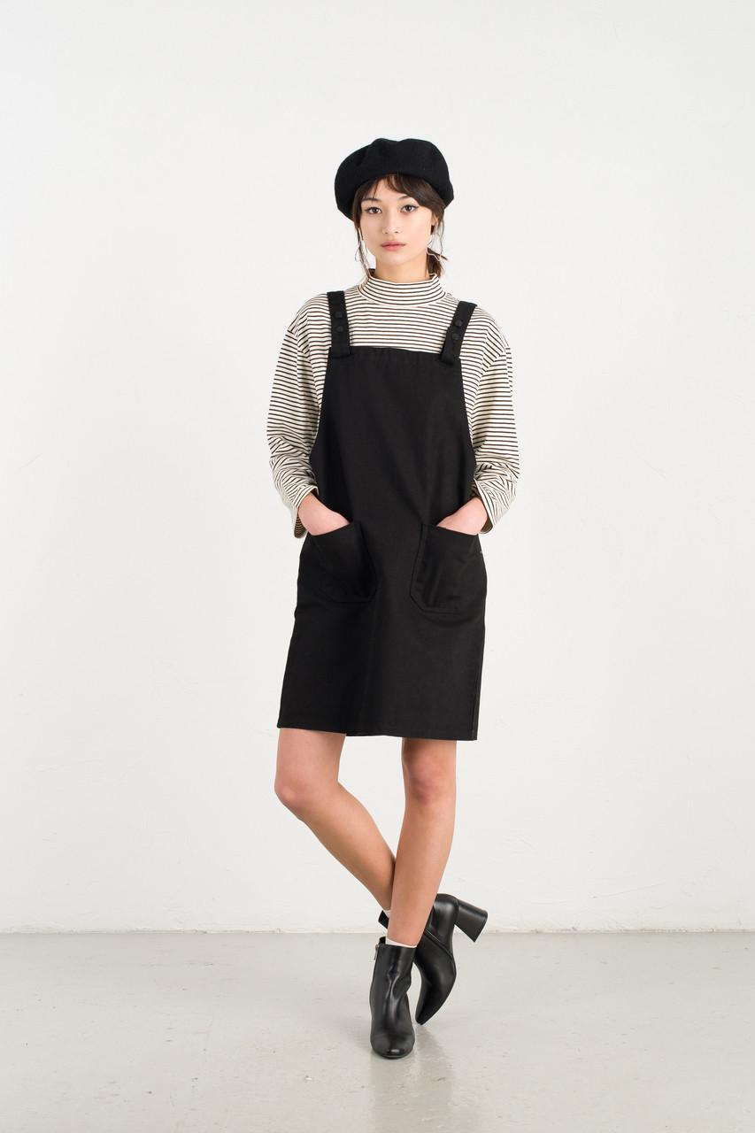 Apron Dress, Black