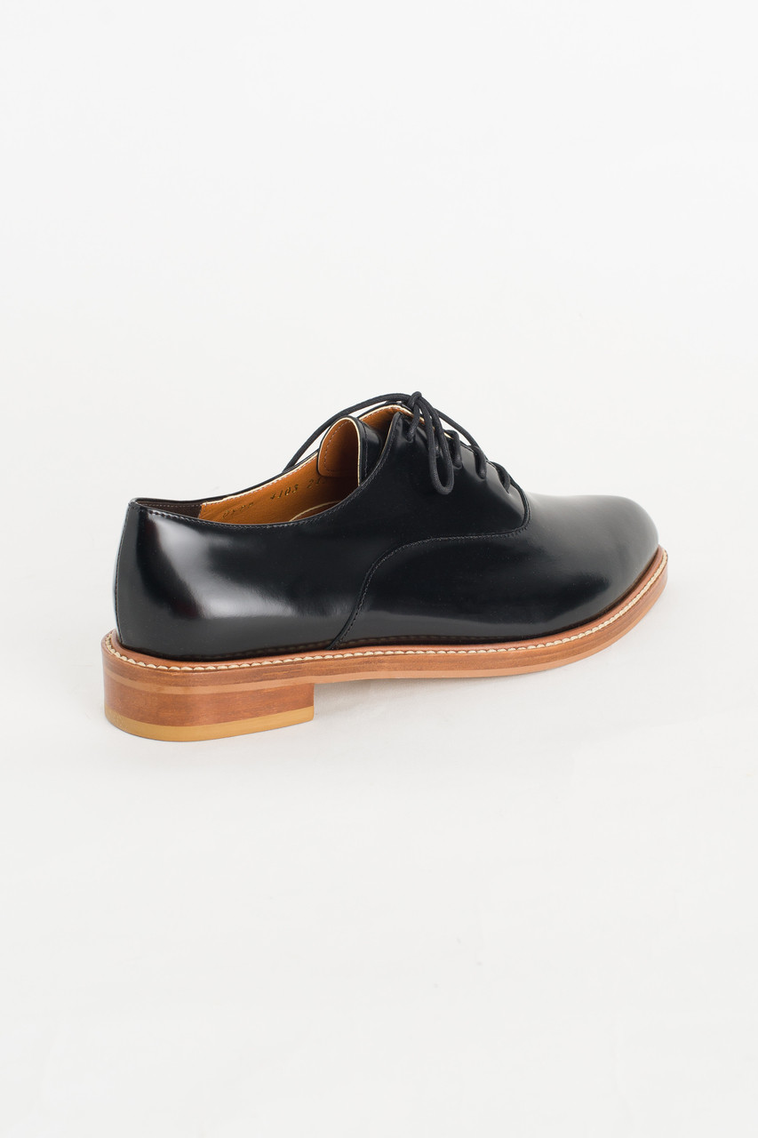 Pointed Oxford Shoes, Black