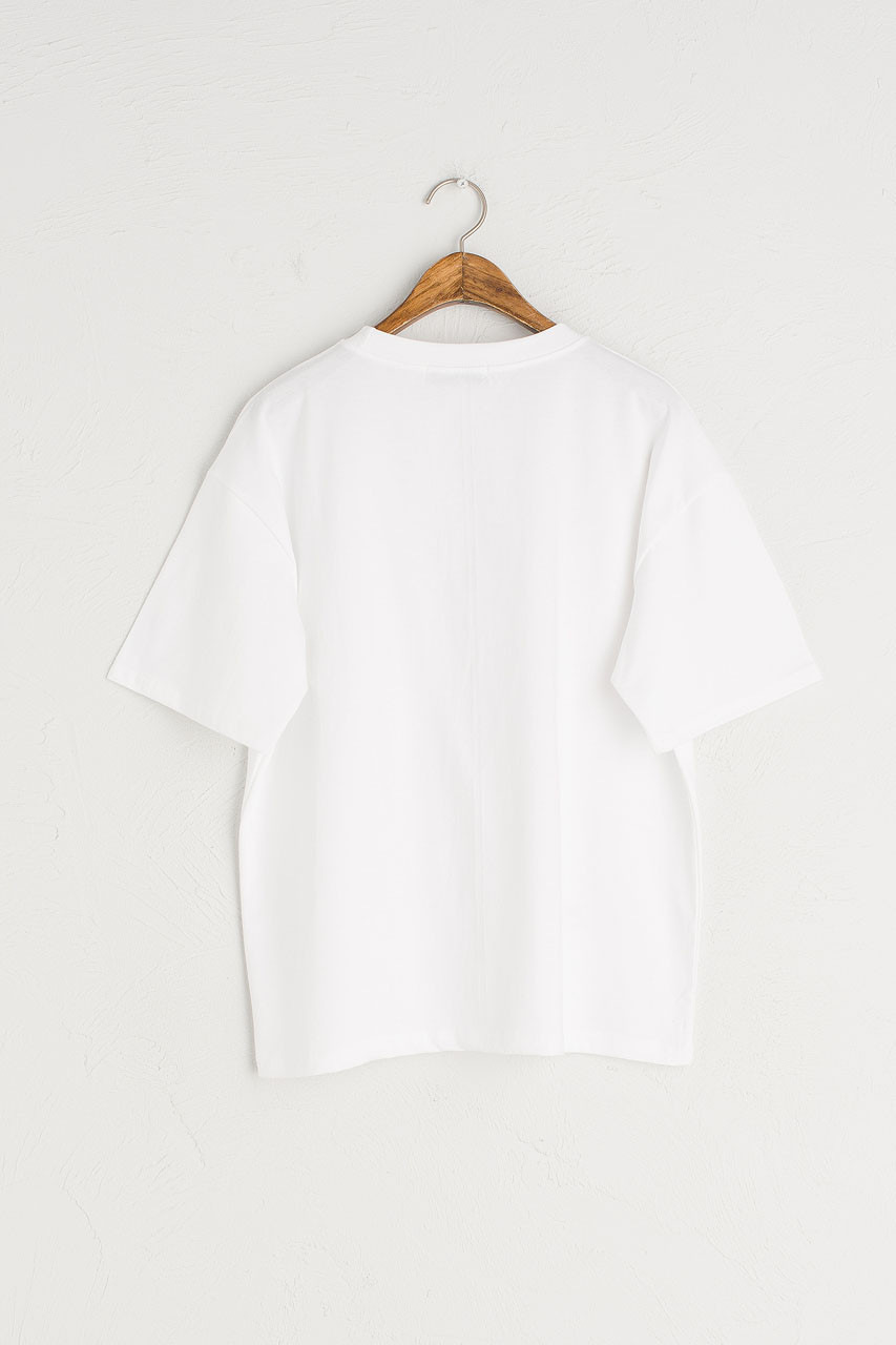 Lemon Stitch Short Sleeve Tee, White
