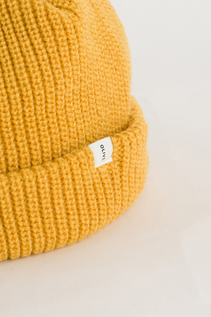 Fisherman Beanie, English Mustard