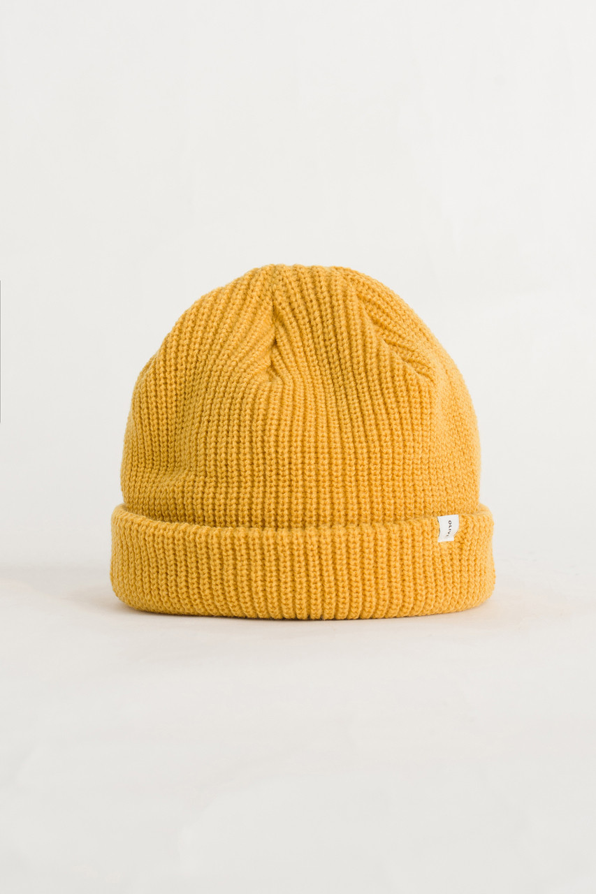 Fisherman Beanie, English Mustardx