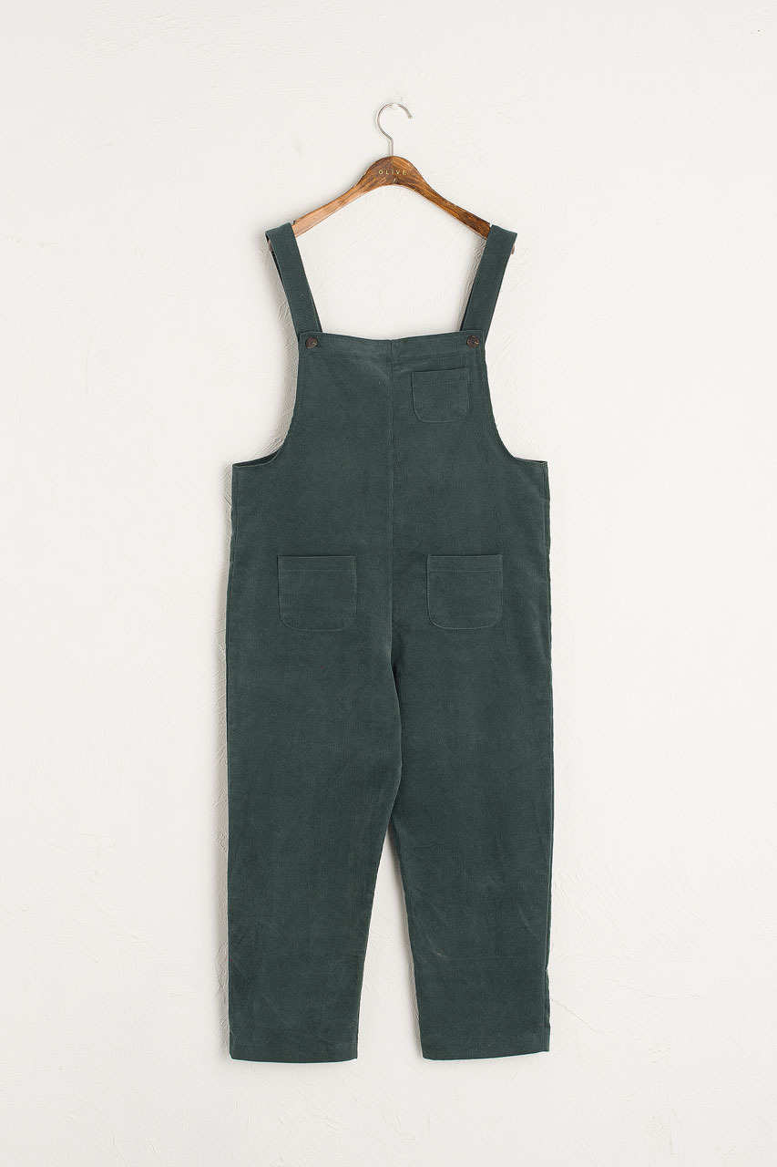 Pocket Point Corduroy Dungarees, Teal