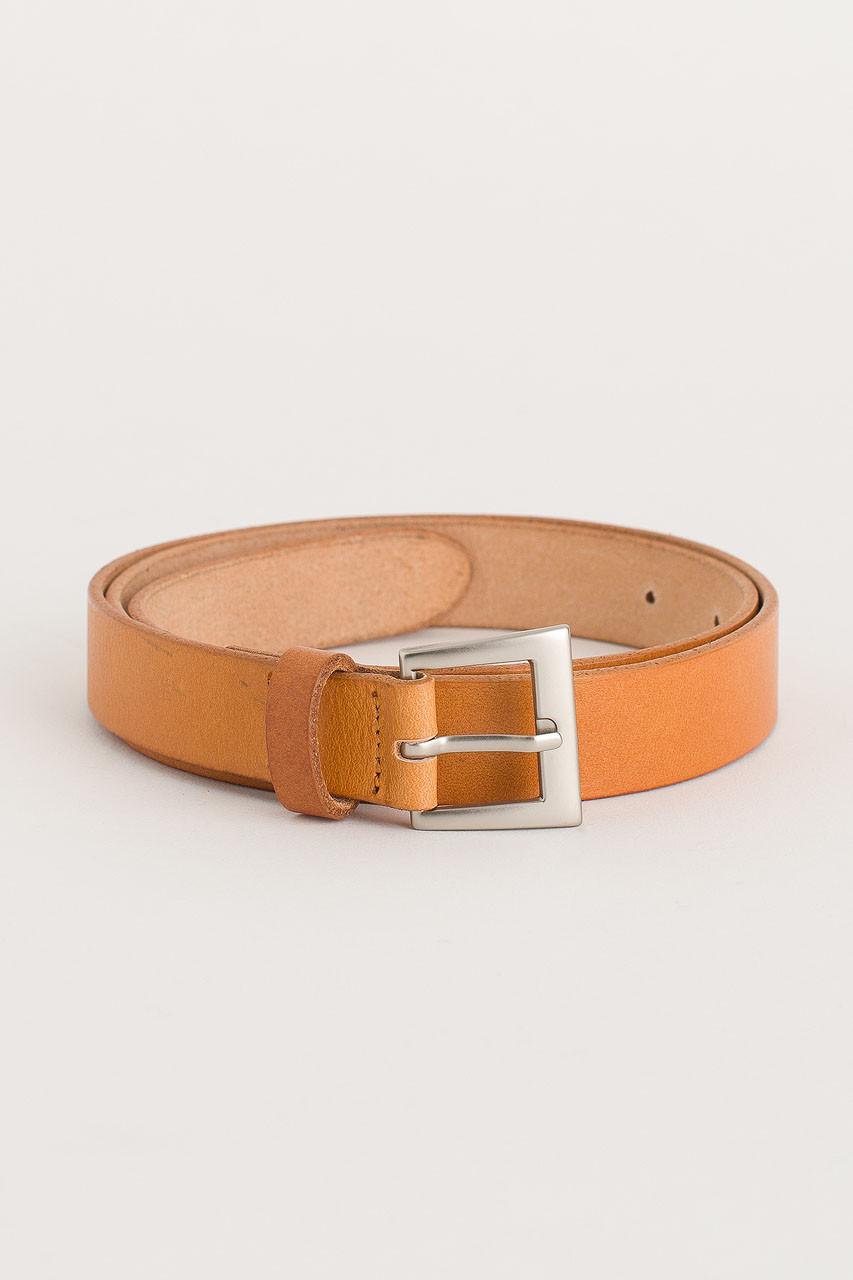 Multi Punching Leather Belt, Camel