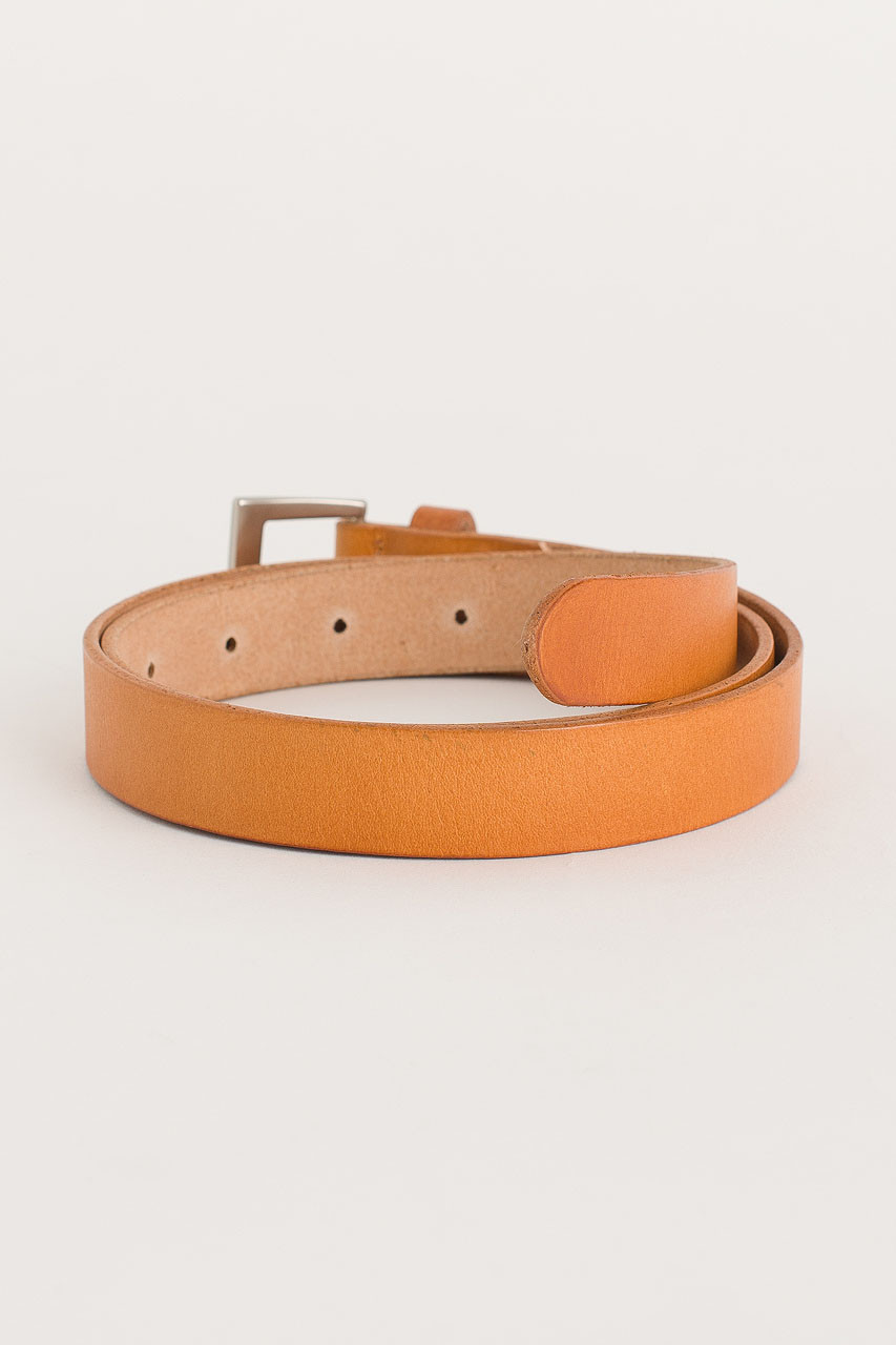 Multi Punching Leather Belt, Camel