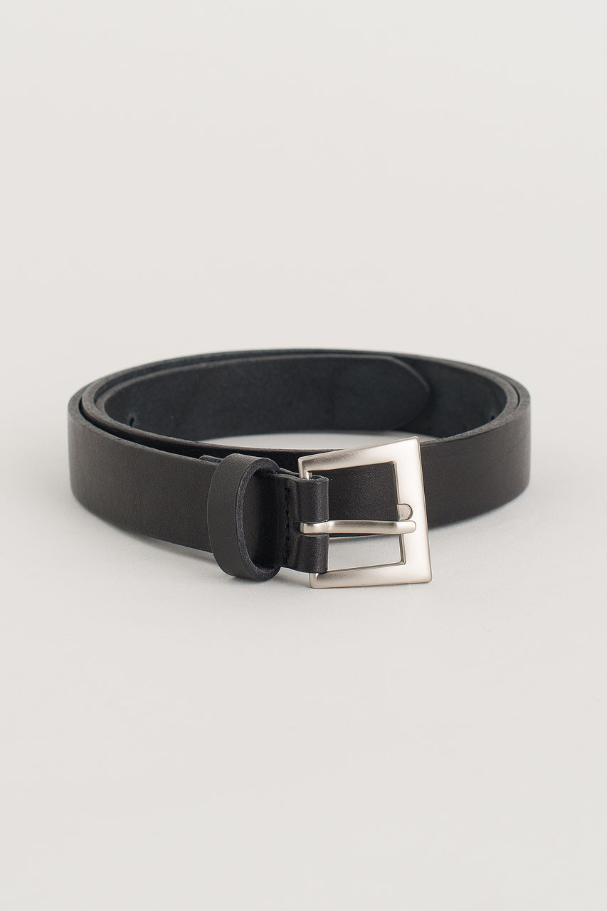 Multi Punching Leather Belt, Black