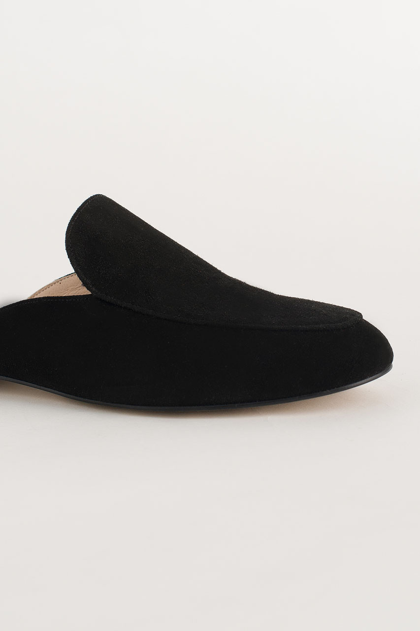 Simple Suede Sliders, Black