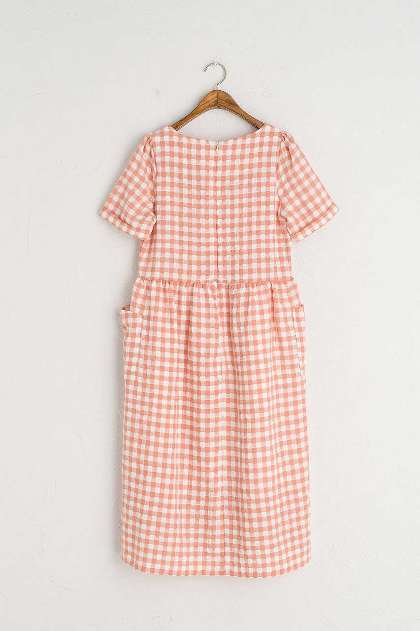 Gingham Check Baby Doll Dress, Sanguinello