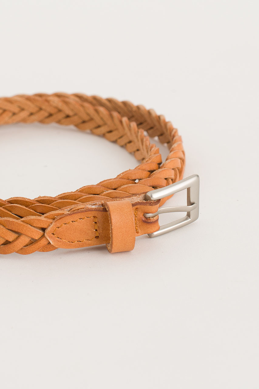Cable Skinny Belt, Tan