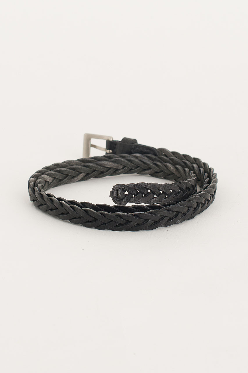 Cable Skinny Belt, Black